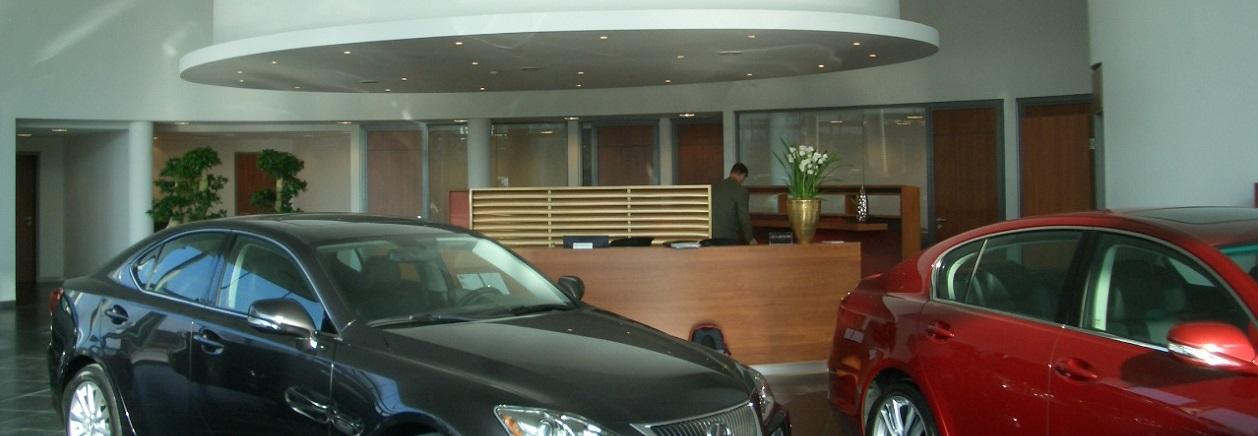 Autohaus in Mannheim mit runden Decken